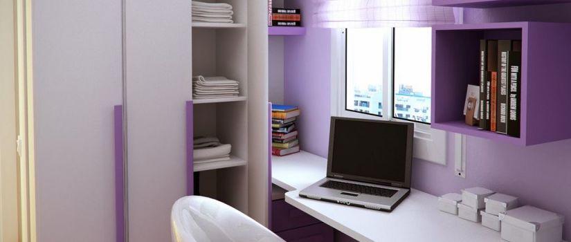 White Purlple Bedroom Decoration
